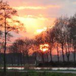 zonsondergang bij De Watervlinder